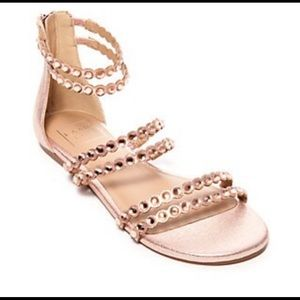 Kaari Blue Pink / Rose Gold Rhinestone Sandals